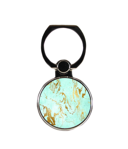 Mint Gold Marble Phone Ring