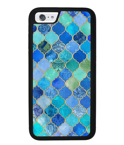 Moroccan Aqua Teal Gold Pattern | Apple iPhone Case