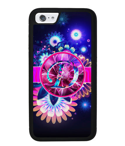 Neon Flower Initial | Apple iPhone Case