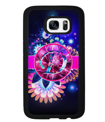 Neon Flower Initial | Samsung Phone Case