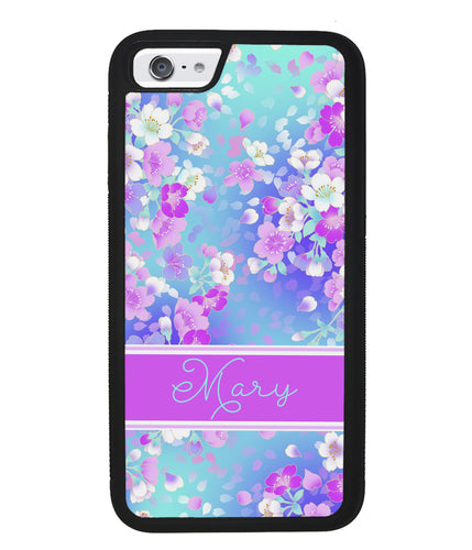 Neon Flower Pattern Personalized | Apple iPhone Case