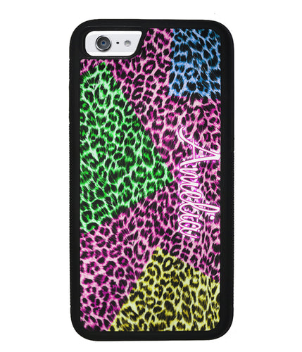 Neon Leopard Skin Personalized | Apple iPhone Case