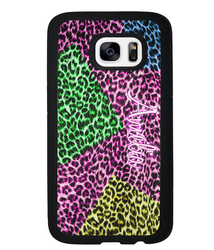 Neon Leopard Skin Personalized | Samsung Phone Case