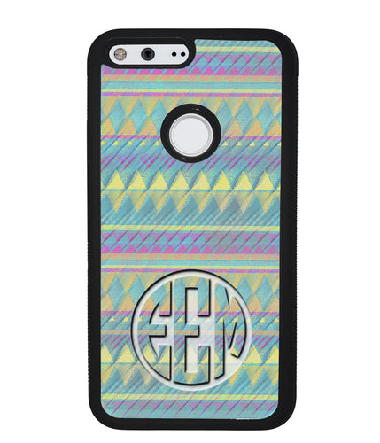 Pastel Tribal Monogram | Google Case