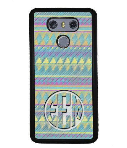 Pastel Tribal Monogram | LG Phone Case