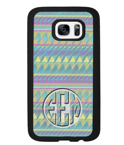 Pastel Tribal Monogram | Samsung Phone Case