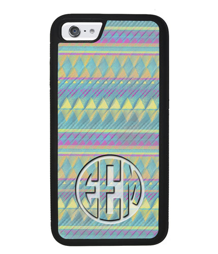 Pastel Tribal Monogram | Apple iPhone Case