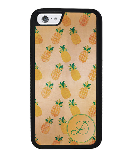 Pineapple Pattern Initial | Apple iPhone Case