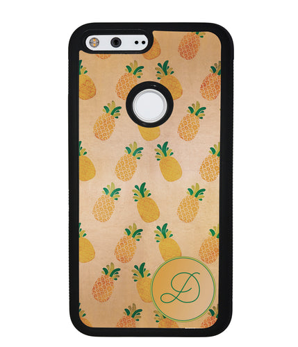 Pineapple Pattern Initial | Google Phone Case