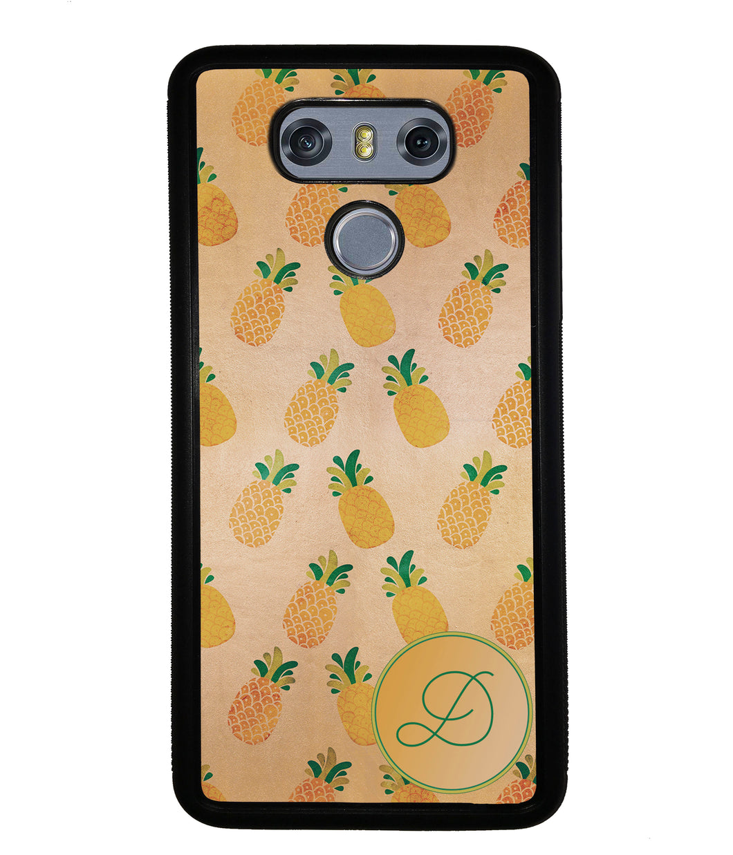 Pineapple Pattern Initial | LG Phone Case
