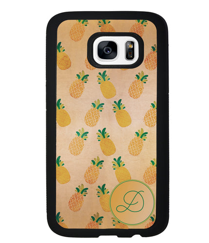Pineapple Pattern Initial | Samsung Phone Case
