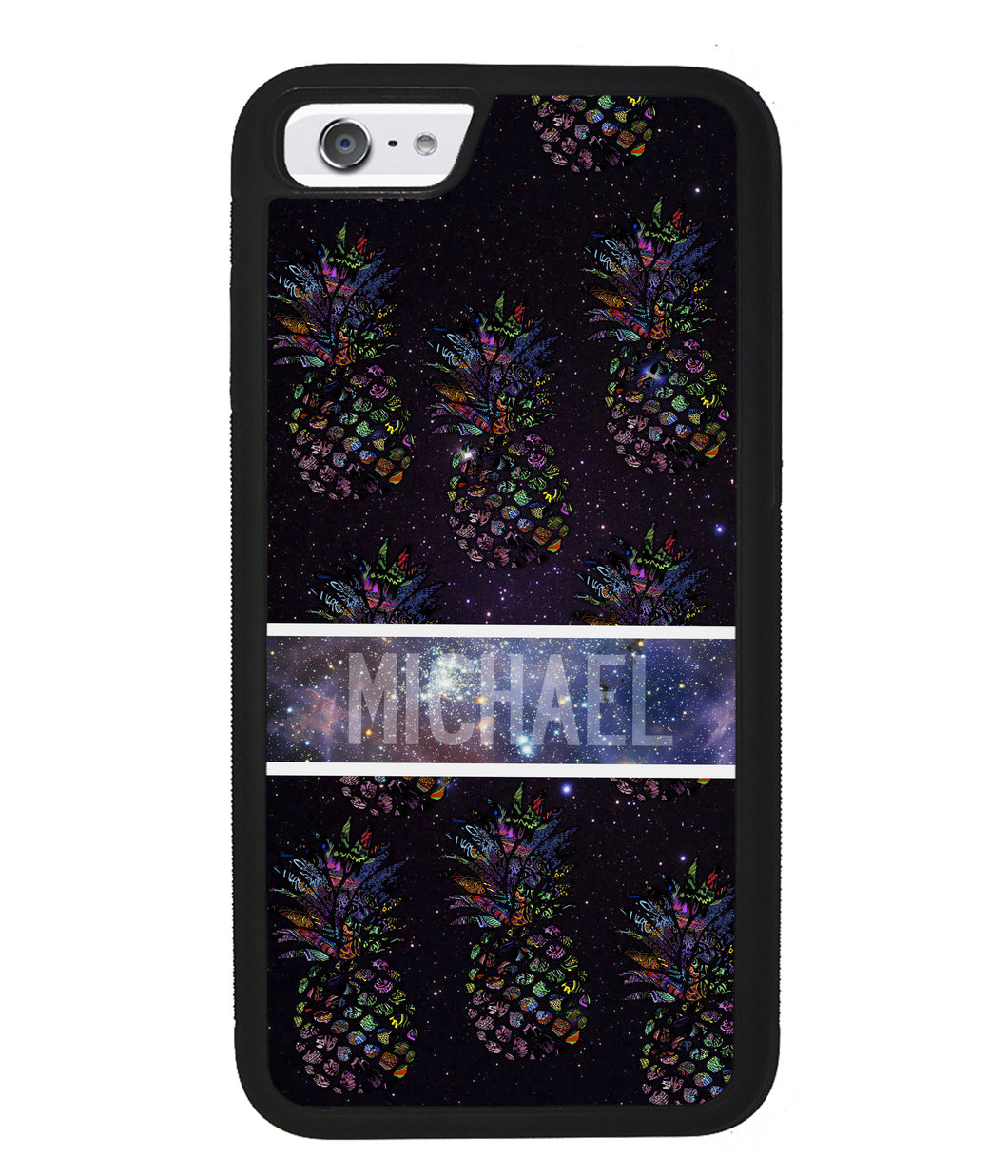 Pineapple Space Colors Personalized | Apple iPhone Case