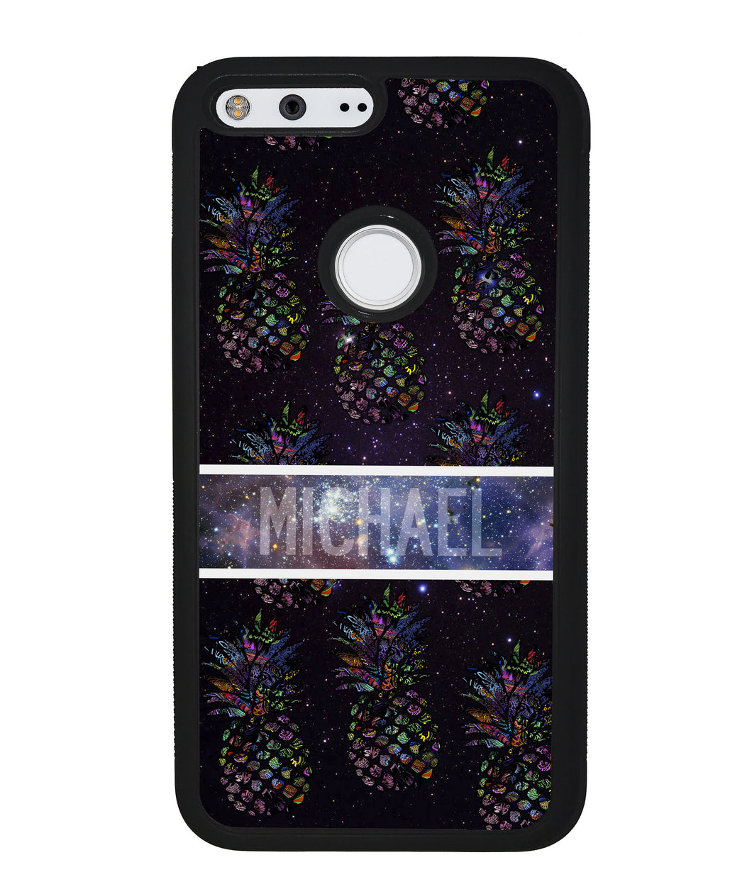 Pineapple Space Colors Personalized | Google Phone Case