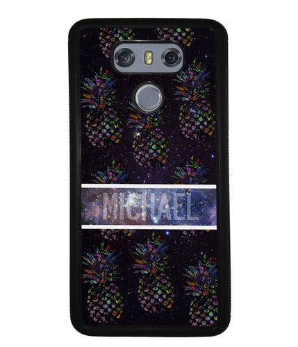 Pineapple Space Colors Personalized | LG Case