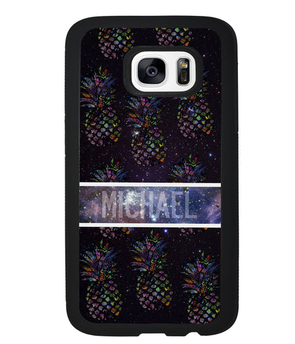Pineapple Space Colors Personalized | Samsung Phone Case
