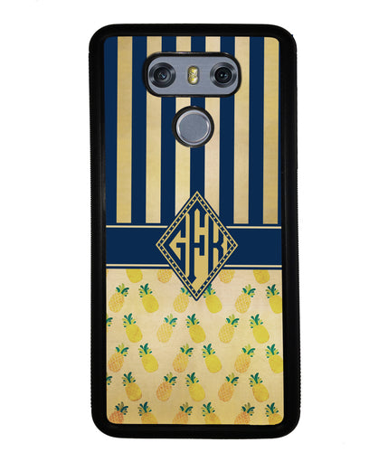 Pineapple Stripes Diamond Monogram | LG Phone Case