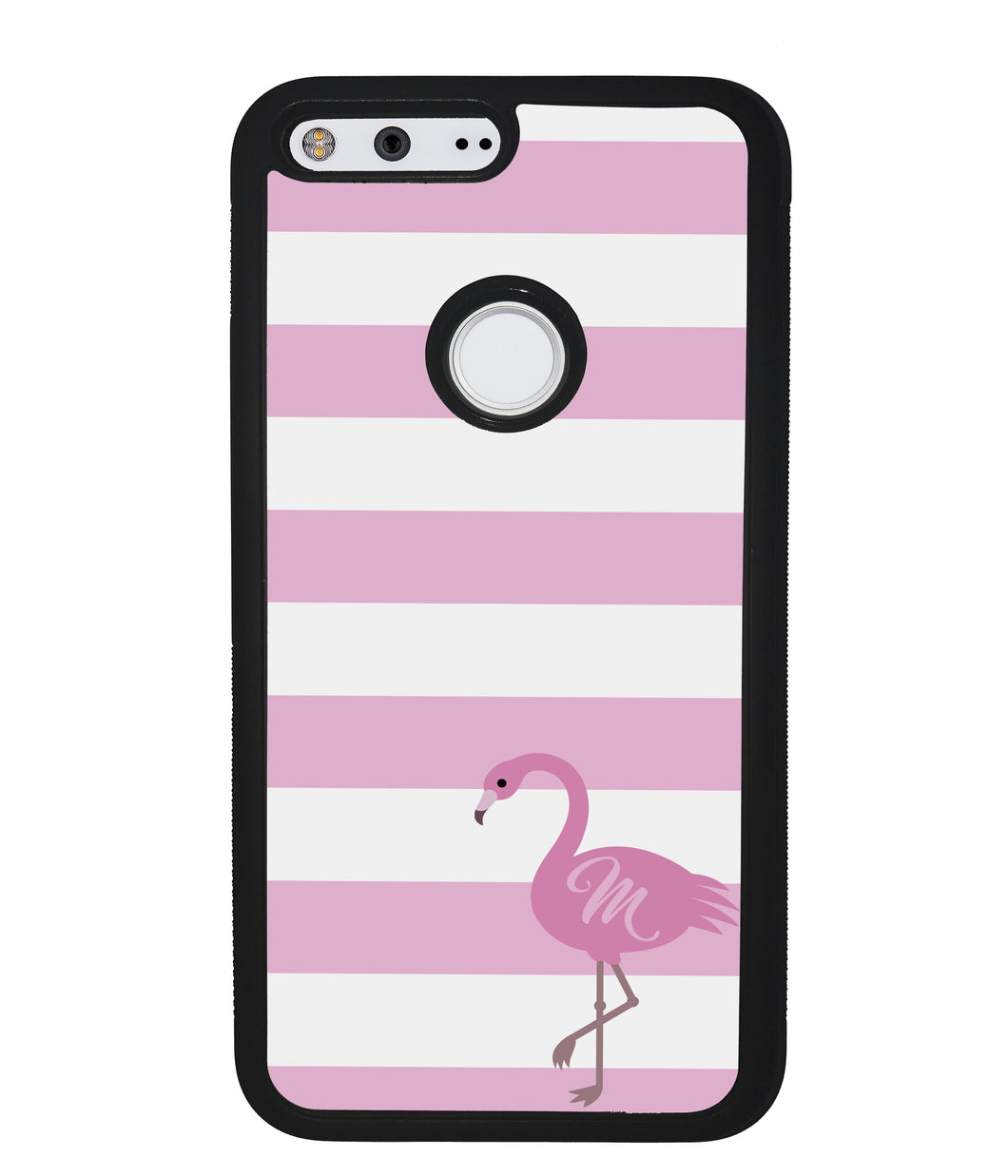 Pink Bars Flamingo Initial | Google Phone Case