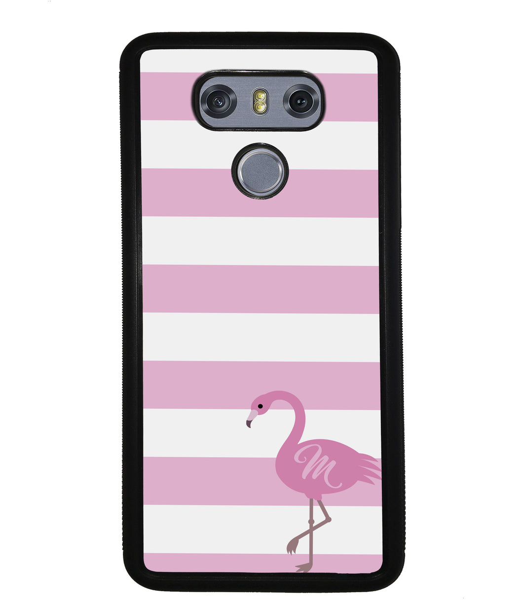 Pink Bars Flamingo Initial | LG Phone Case