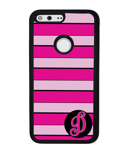 Pink Bars Personalized Initial | Google Phone Case