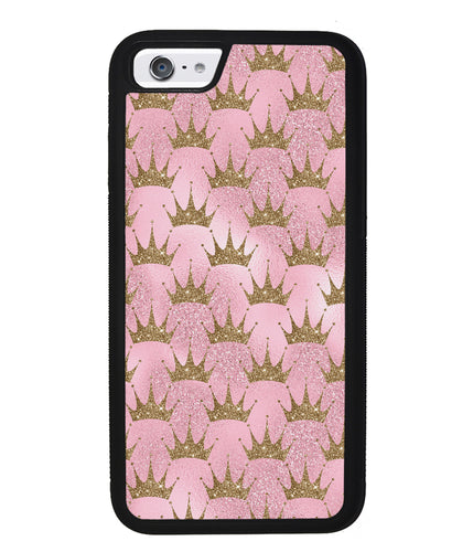 Pink Glitter Gold Crown | Apple iPhone Case