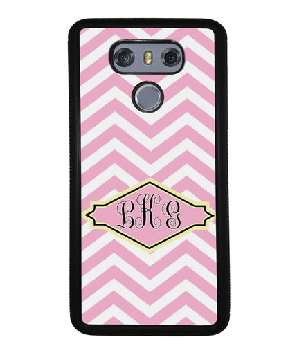 Pink Lemonade Chevron Monogram | LG Phone Case