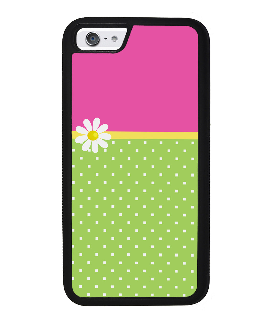 Pink Lilly Gren Squares | Apple iPhone Case
