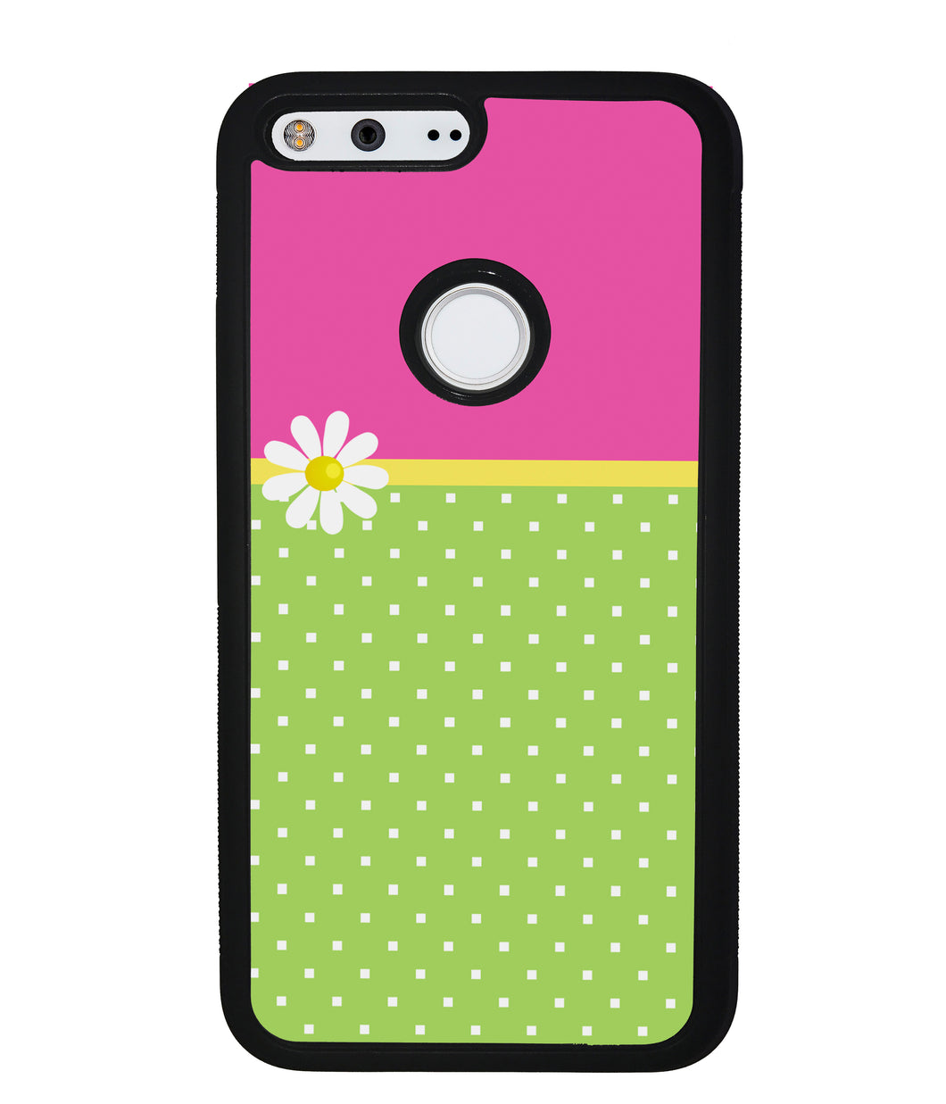 Pink Lilly Gren Squares | Google Phone Case
