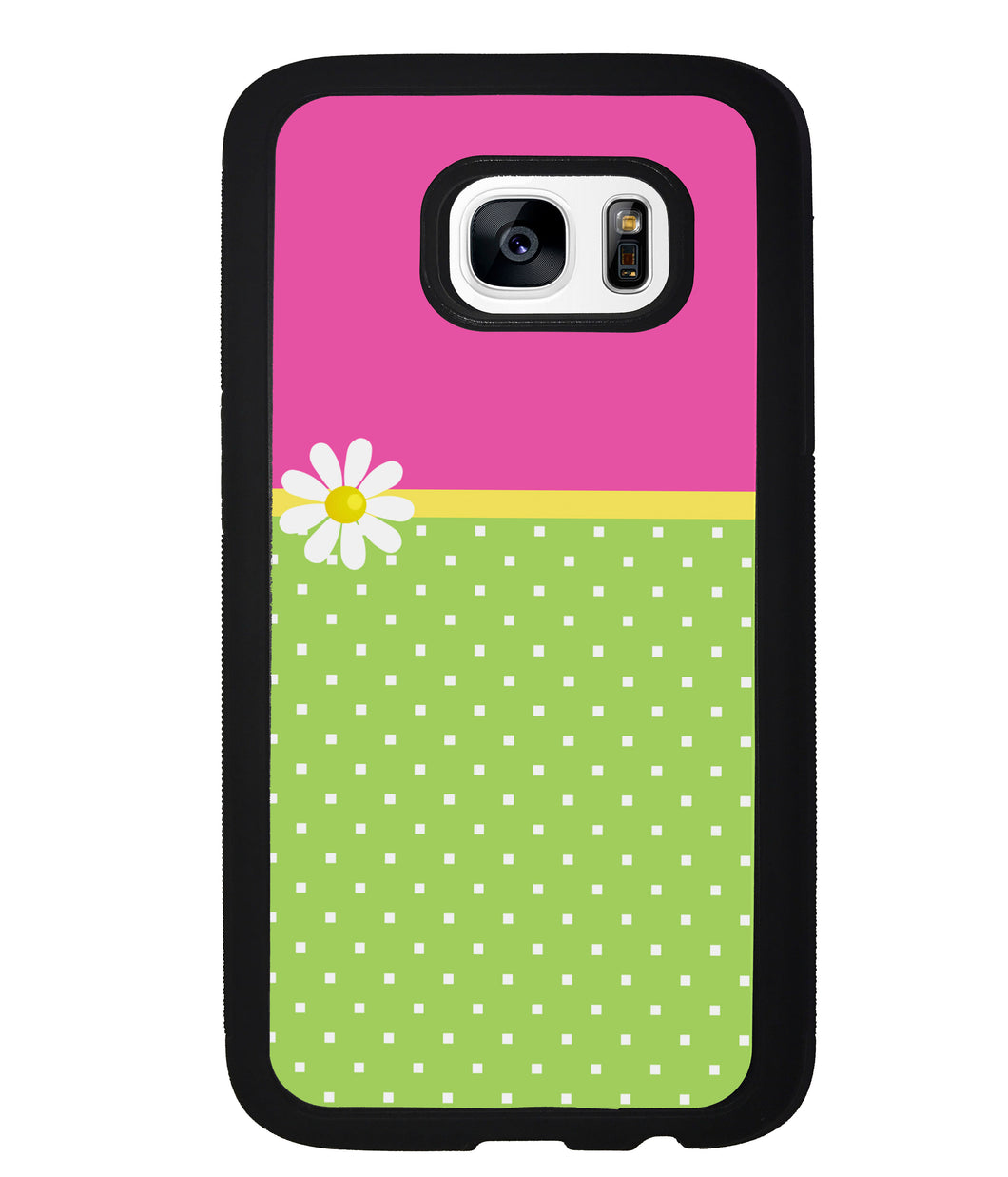 Pink Lilly Gren Squares | Samsung Phone Case