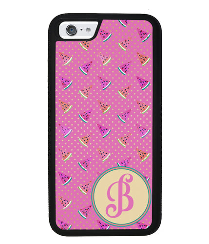 Pink Watermelon Initial | Apple iPhone Case