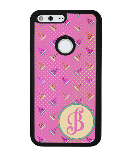 Pink Watermelon Initial | Google Phone Case