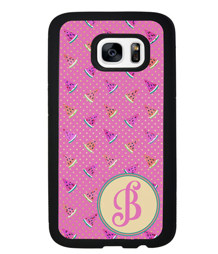 Pink Watermelon Initial | Samsung Phone Case
