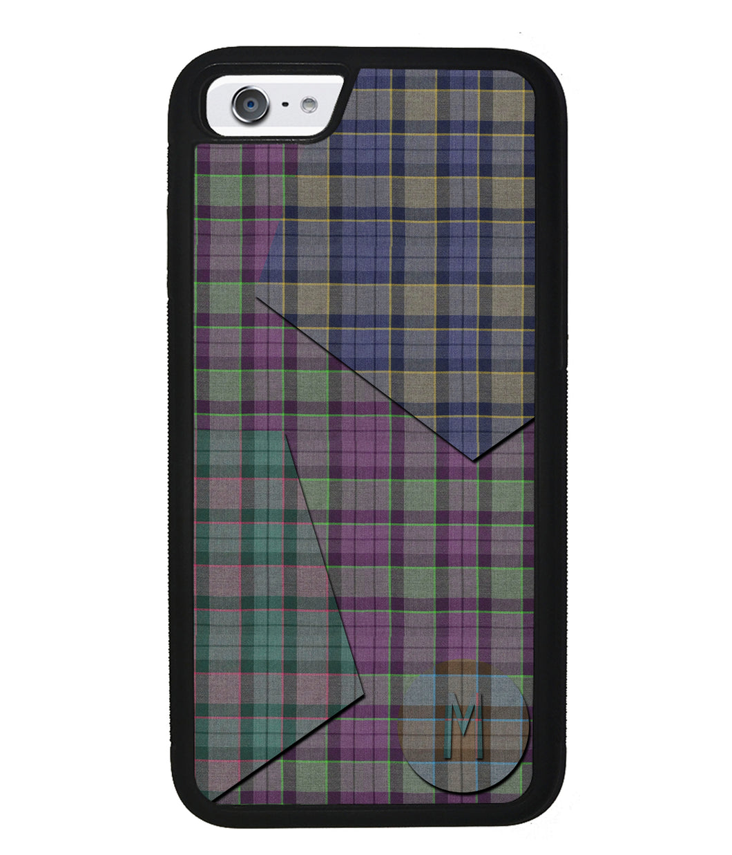 Plaid Tartan Shapes Initial | Apple iPhone Case