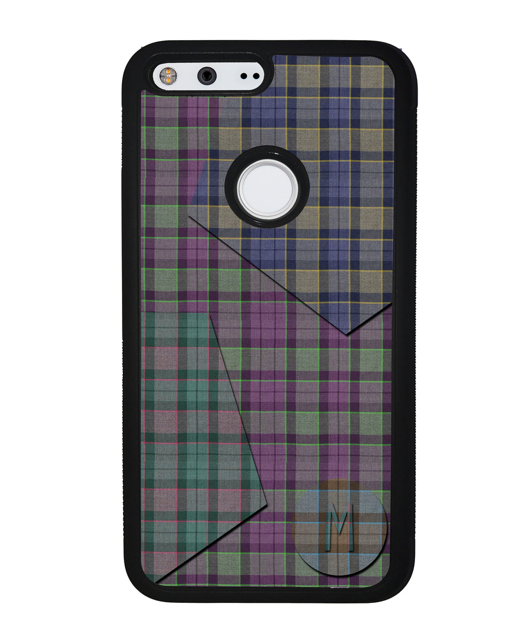 Plaid Tartan Shapes Initial | Google Phone Case