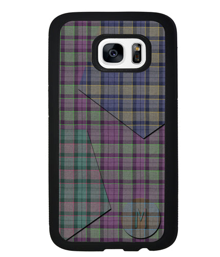 Plaid Tartan Shapes Initial | Samsung Phone Case