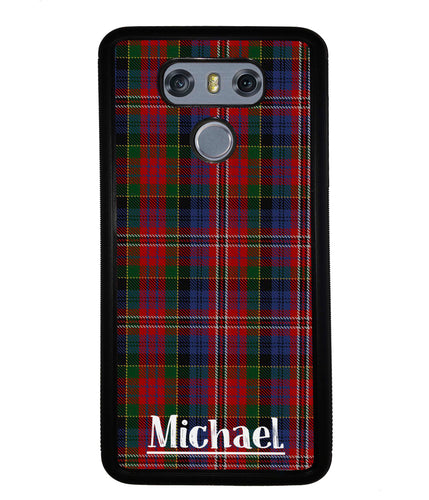 Plaid Tartan Sweater Green Blue and Red Personalized | LG Phone Case