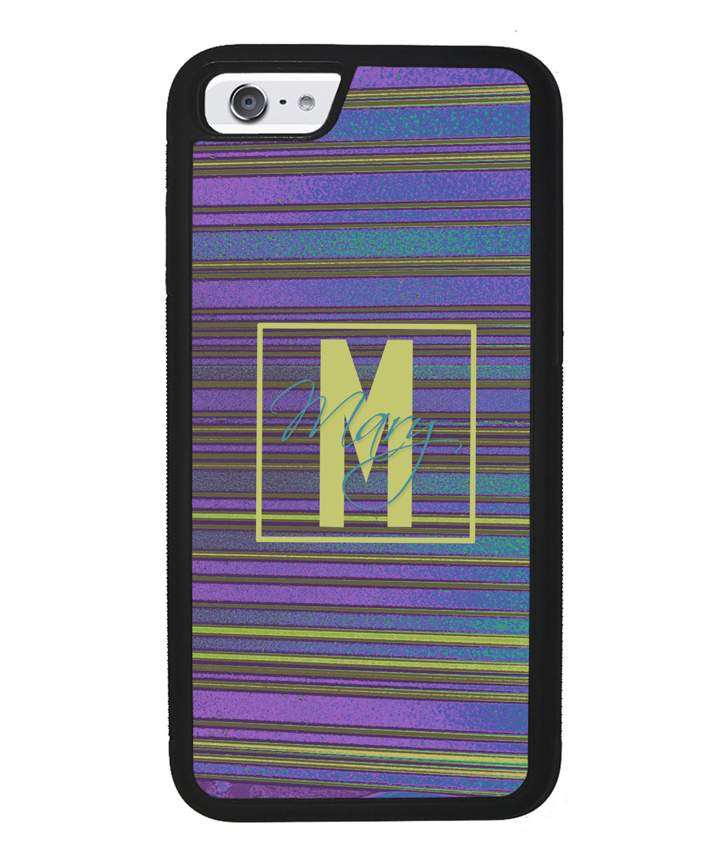 Purple & Blue Stripe 90s Personalized | Apple iPhone Case