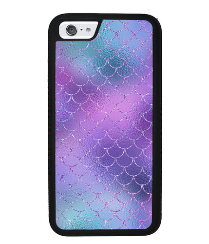 Purple Glitter Pastel Mermaid Scales | Apple iPhone Case