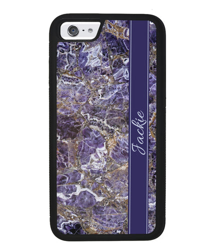 Purple and Gold Marble Personalized | Apple iPhone Case