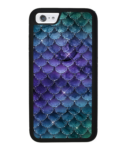 Purple Shine Mermaid Scales | Apple iPhone Case