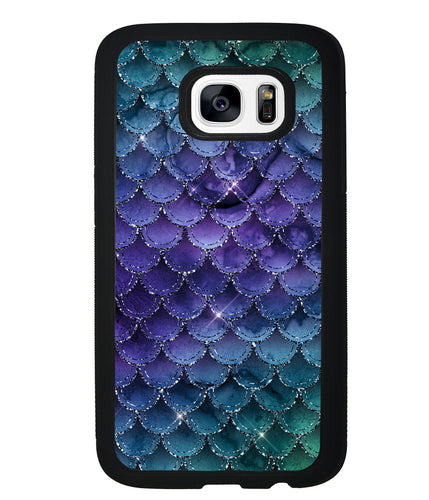Purple Shine Mermaid Scales | Samsung Phone Case