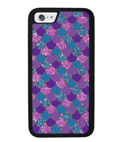 Purple Teal Gold Mermaid Scales | Apple iPhone Case