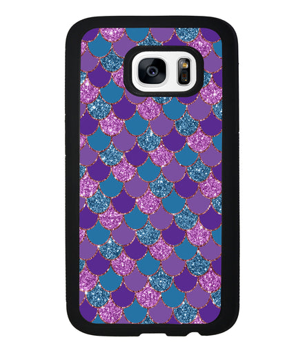 Purple Teal Gold Mermaid Scales | Samsung Phone Case