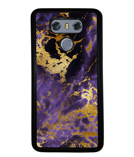 Purple and Gold Foil Marble | LG Case