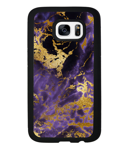 Purple and Gold Foil Marble | Samsung Phone Case