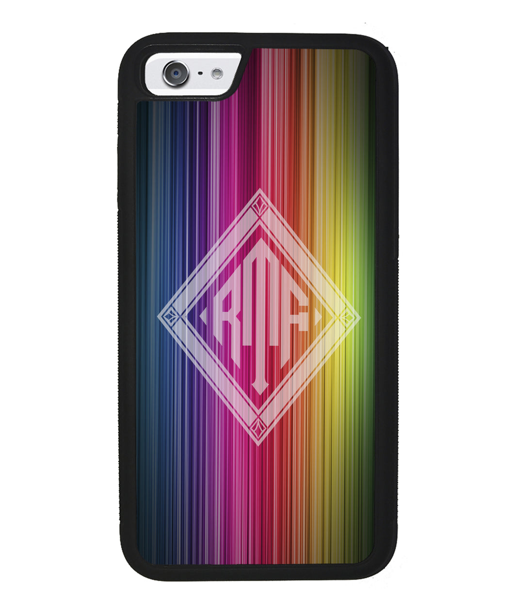Rainbow Diamond Monogram | Apple iPhone Case
