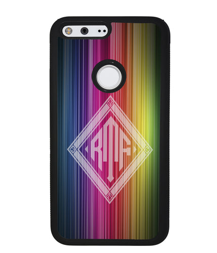 Rainbow Diamond Monogram | Google Phone Case