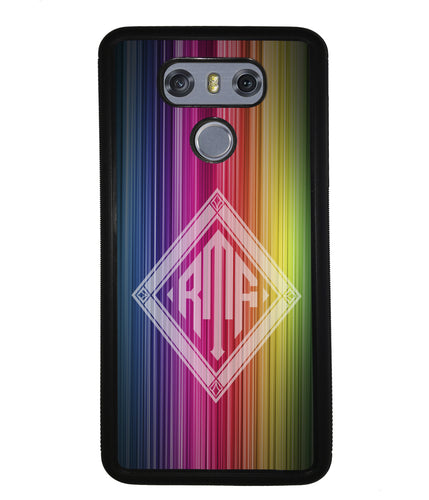 Rainbow Diamond Monogram | LG Phone Case