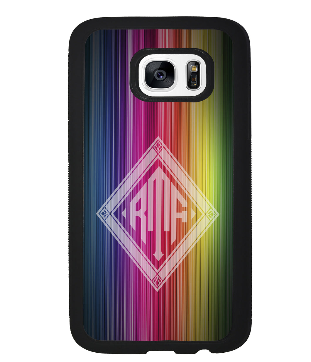 Rainbow Diamond Monogram | Samsung Phone Case