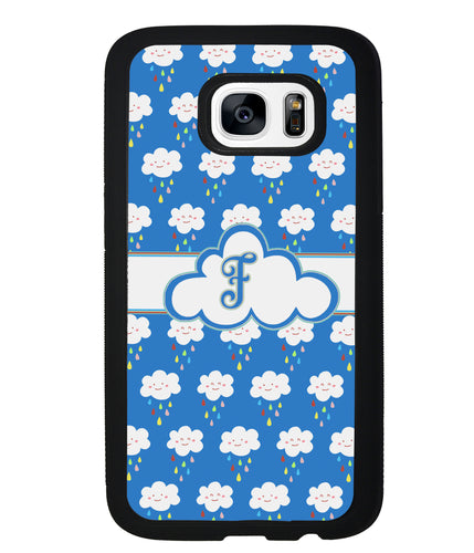 Rainy Storm Clouds Initial | Samsung Phone Case