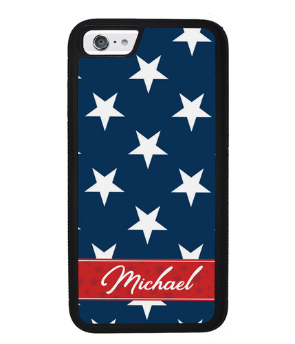 Red White and Blue Stars Personalized | Apple iPhone Case